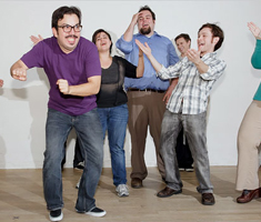 improv group having fun