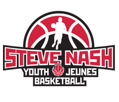 "Logo that reads ""Steve Nash Youth Basketball"""