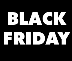 "Black background with white ""Black Friday"""