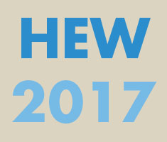 Text: HEW 2017 in blue