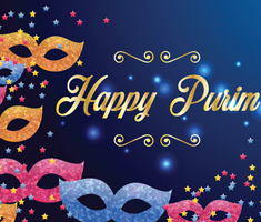 Happy Purim graphic